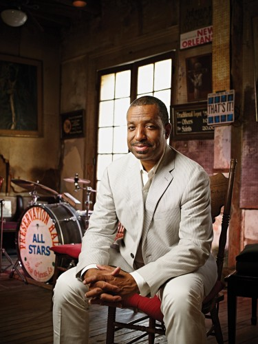 Renowned jazz saxophonist Donald Harrison Jr. takes a break at Preservation Hall, just a few blocks from Congo Square, in the French Quarter.