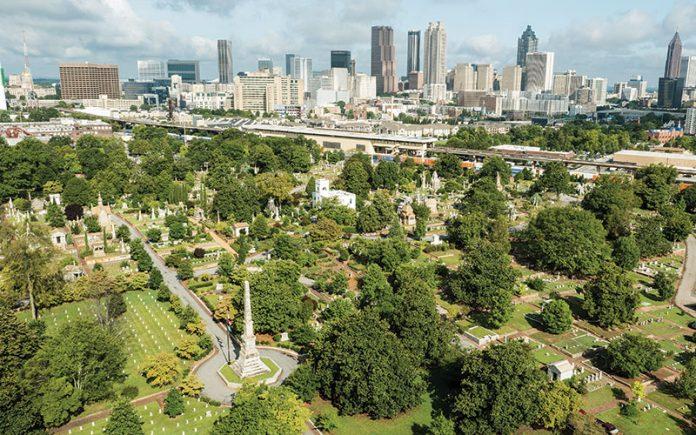 Drone Oakland Cemetery