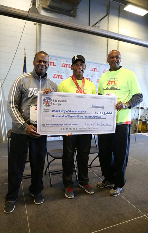 Despite the race's hiccups, $123,000 was raised for United Way of Greater Atlanta