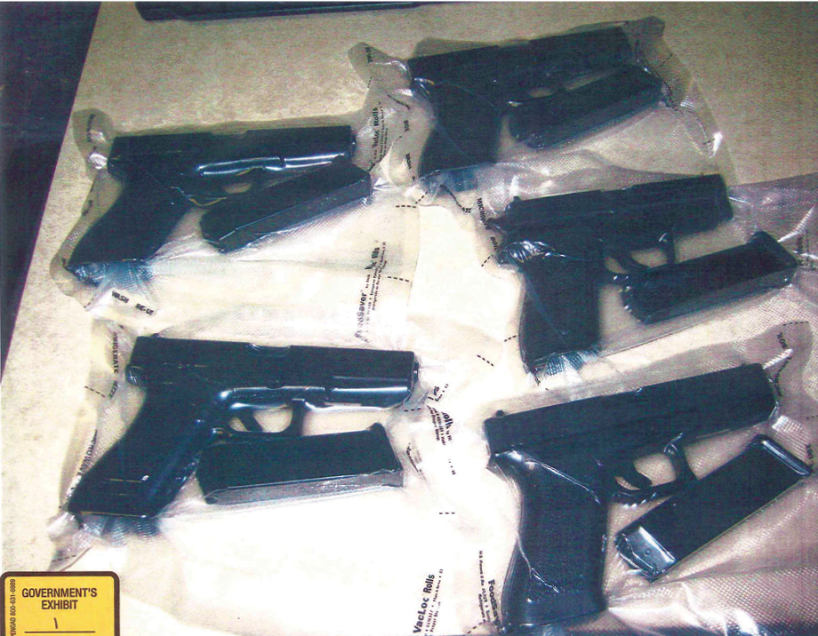 The smuggled guns that led to Samuels's bust