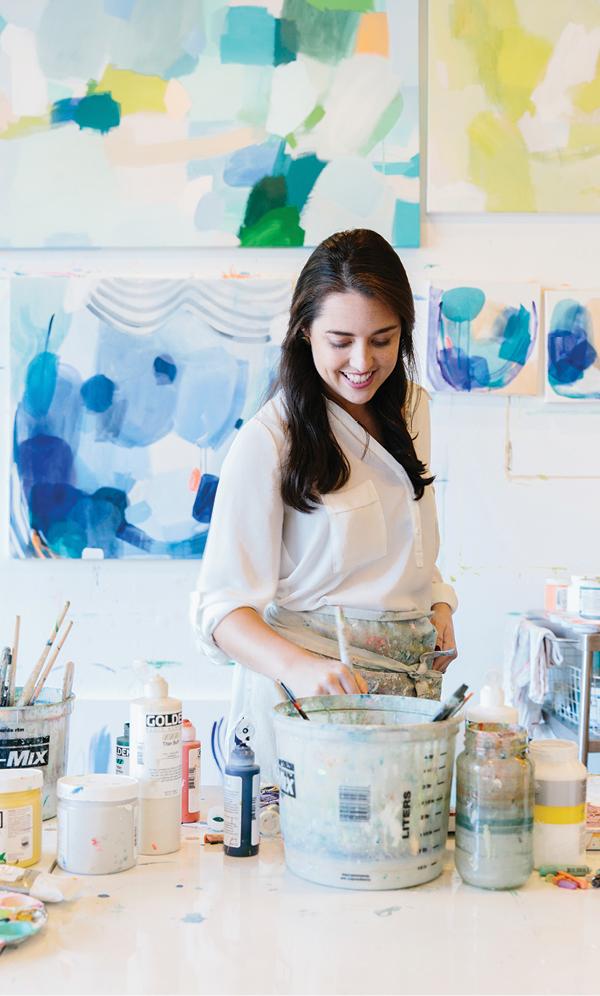 Find fanciful, abstract art at Britt Bass Turner Studio + Shop