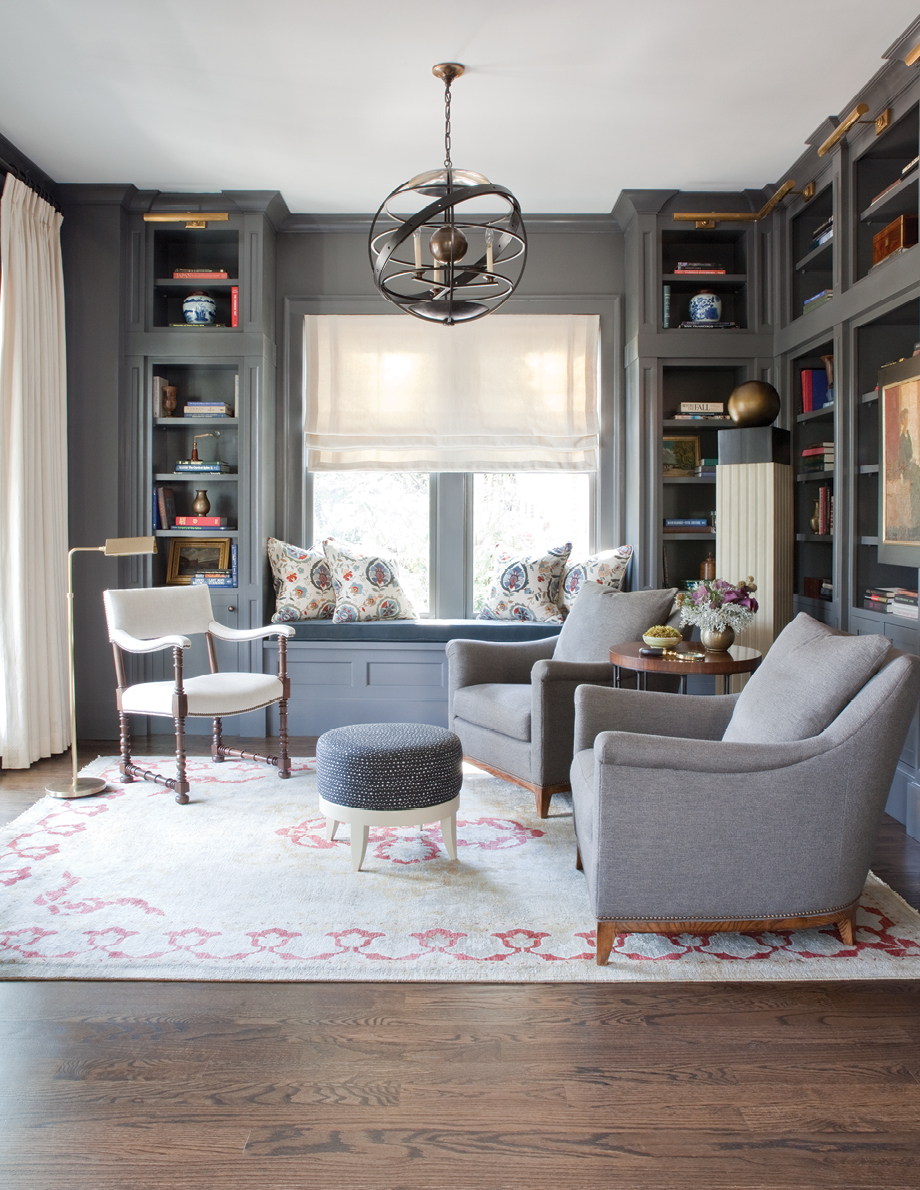 House Study Room: Room Envy: A Sophisticated Gray Study In Ansley Park
