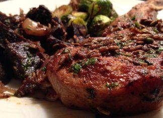 Fennel-crusted pork chop