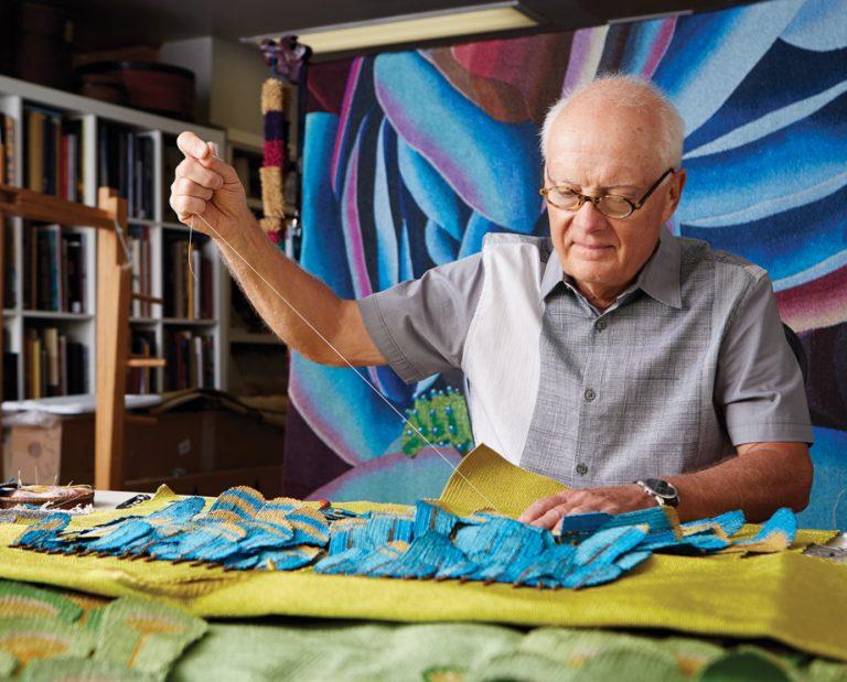 Atlanta artist Jon Eric Riis's tapestries blend beauty with a powerful social message
