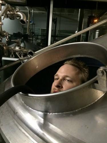 Pellett hanging out in a kettle (Courtesy of Jason Pellett)