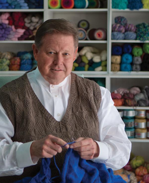 Design star turned Master Knitter Charles Gandy creates fantastical socks