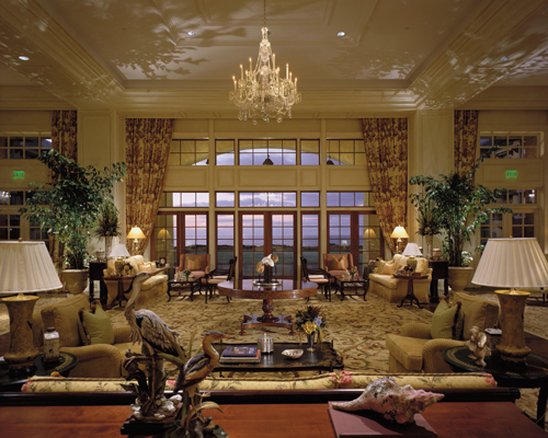 The lobby at the Sanctuary.