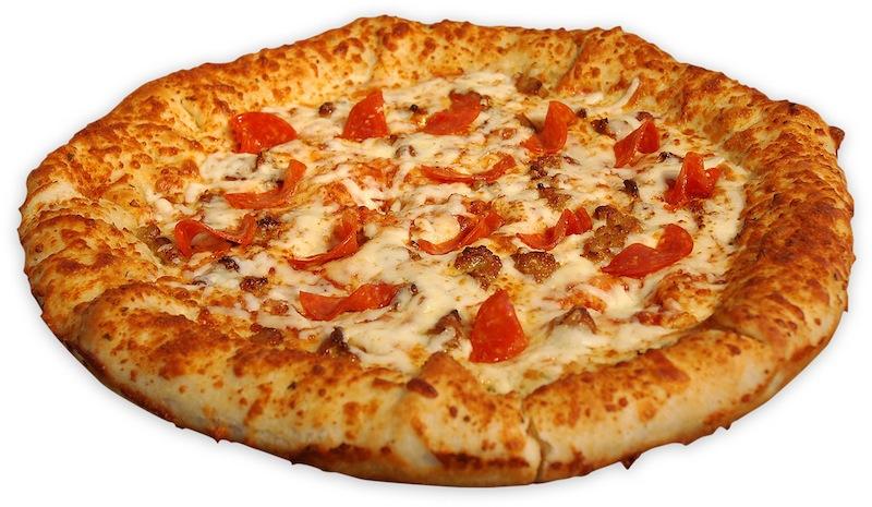 Loaded crust pizza