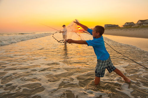Fishing on Bald Head Island's South Beach