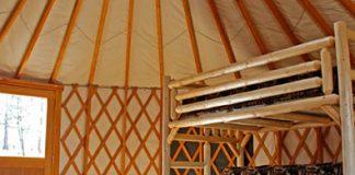 Inside of Yurts at High Falls