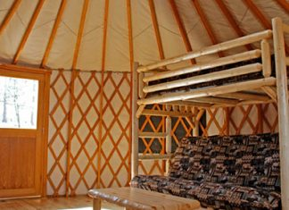 Inside of Yurts at High Falls