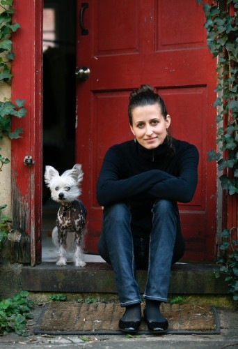Tian in front of her studio at the Goat Farm in 2010.