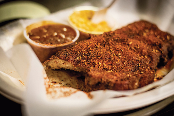 Charlie Vergos's Rendezvous has attracted crowds with its signature dry-rubbed ribs since 1948.