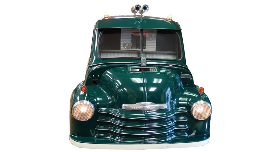Truck-shaped jukebox