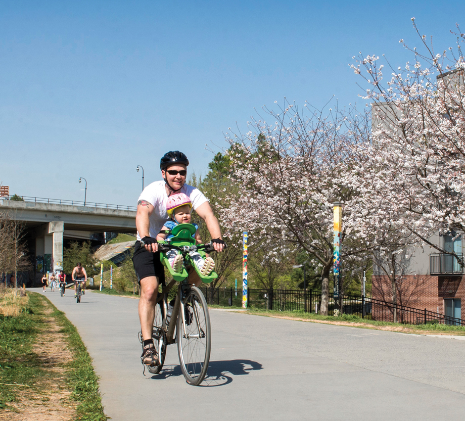 Bicycling with kids Atlanta BeltLine