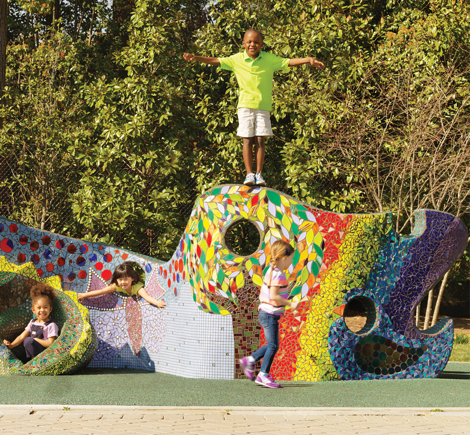 Things to do with kids in Atlanta Playable Art Park