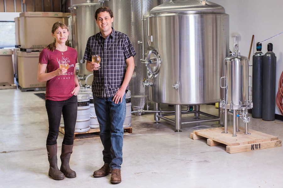 Ciderists Mallory Law and Andrew Wheeler