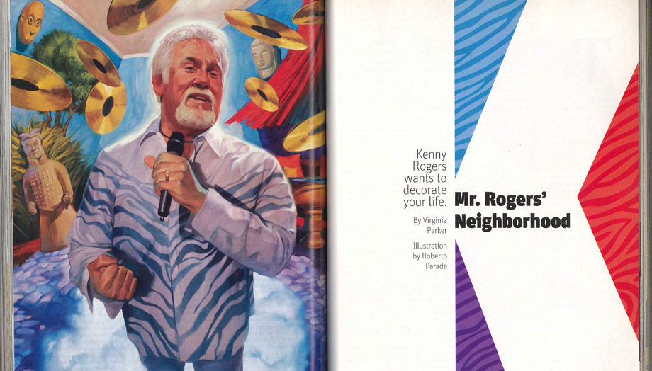Mr Rogers Neighborhood Kenny Rogers Wants To Decorate Your Life Atlanta Magazine