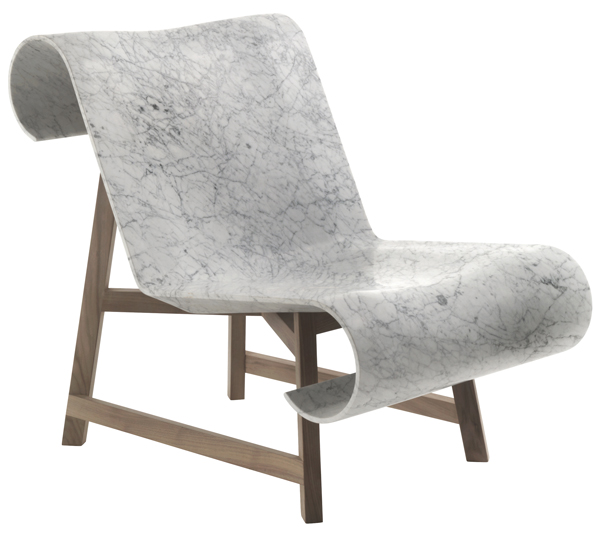 Curl marble chair