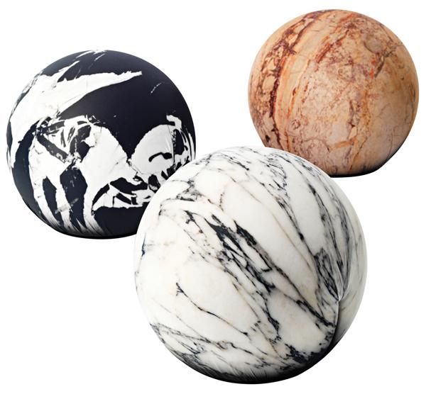 Marble pouf