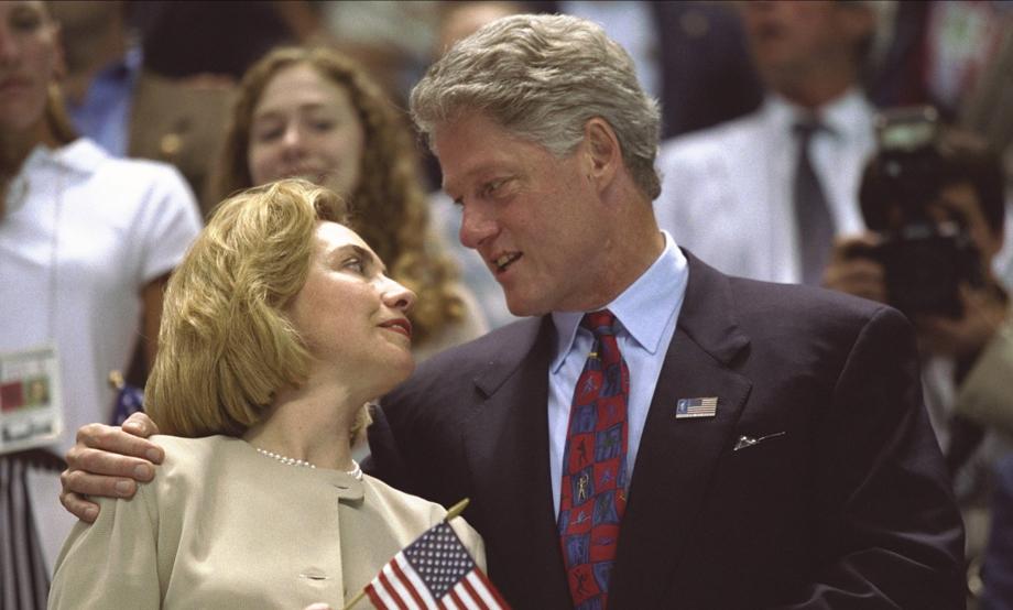1996 Olympics Hillary Clinton and Bill Clinton