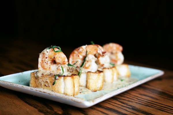Whiskey shrimp at Morningside Kitchen