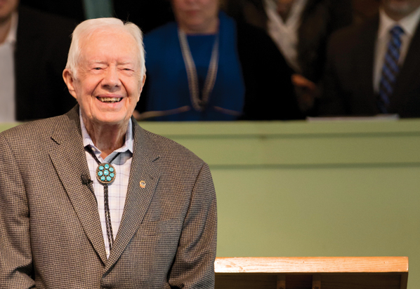Pilgrimage to Plains: The faithful come from around the world to hear Jimmy Carter preach