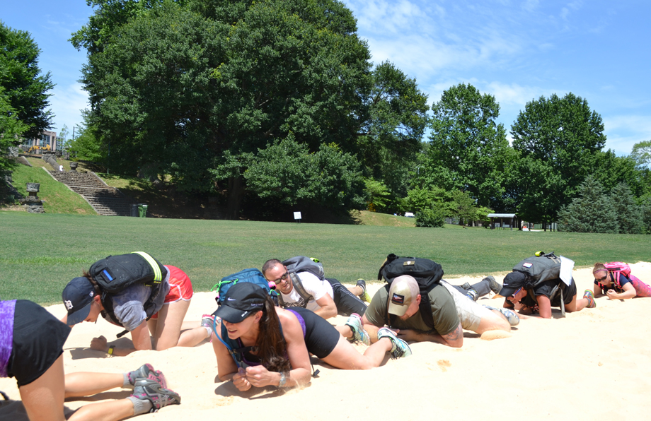 Ruck my life: Walking, lunging, and bear-crawling through