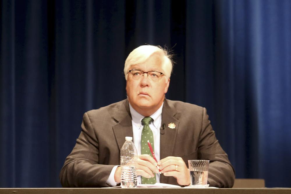 Tim Lee at the Atlanta Press Club's runoff debate