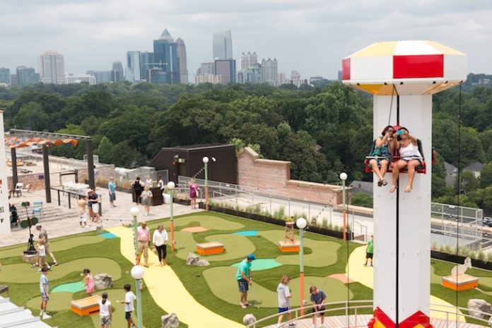 Carnival Inspired Amusement Park On Ponce City Market S Roof