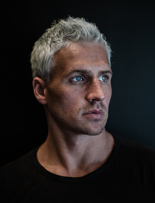 Ryan Lochte blue hair