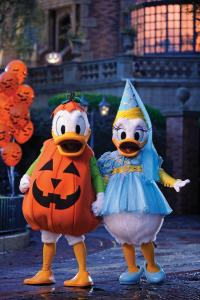 Donald and Daisy decked out for Mickey's Not-So-Scary Halloween Party.