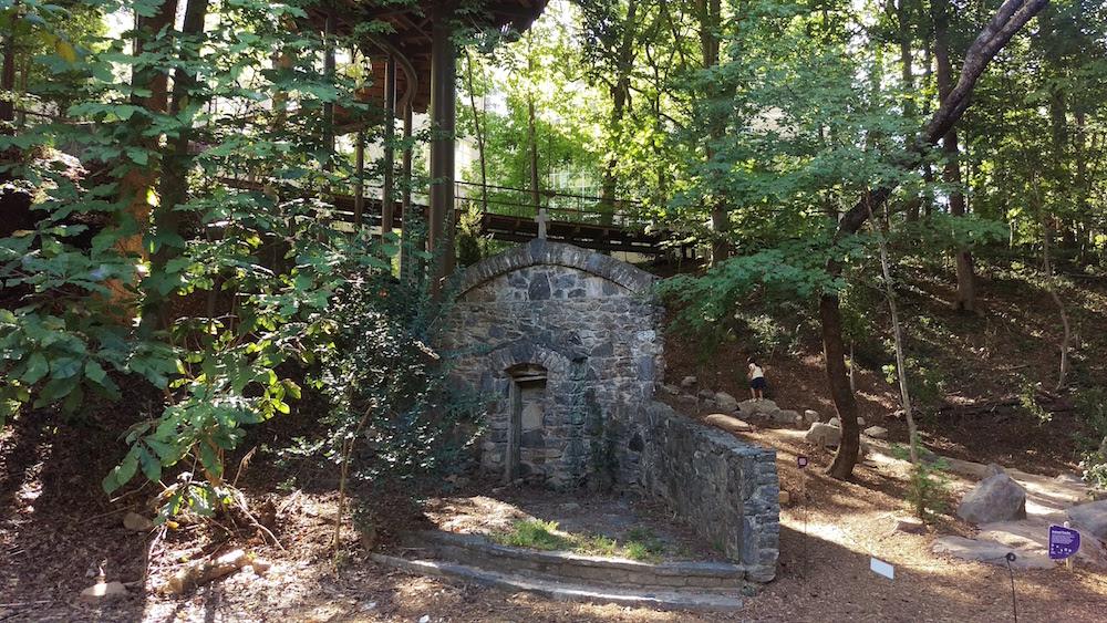 The original stone wall