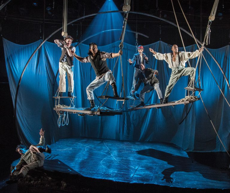 Ahab takes to the air in Alliance Theatre's acrobatic adaptation of Moby Dick