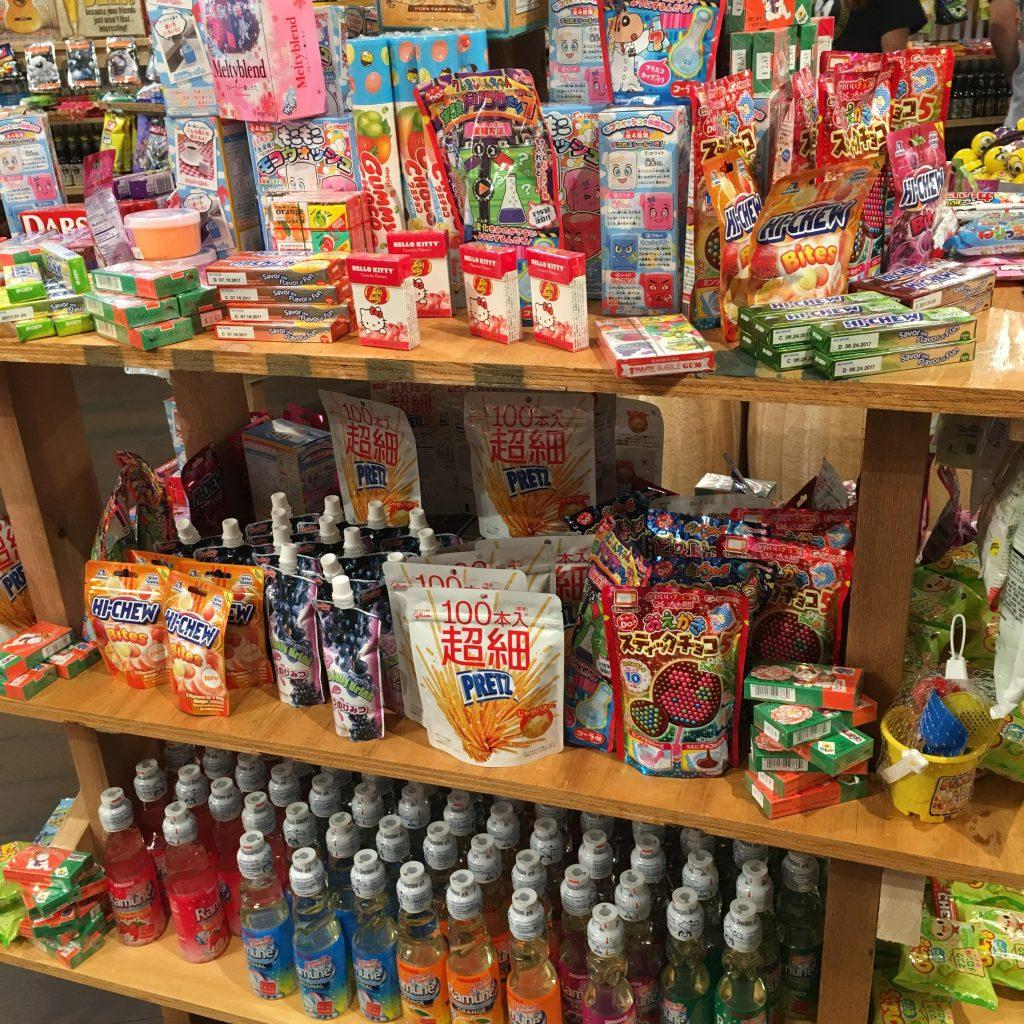 Asian candies for grabs at Rocket Fizz Marietta.