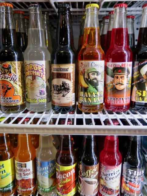 Sodas at Rocket Fizz.