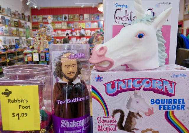 Novelty items at Rocket Fizz.