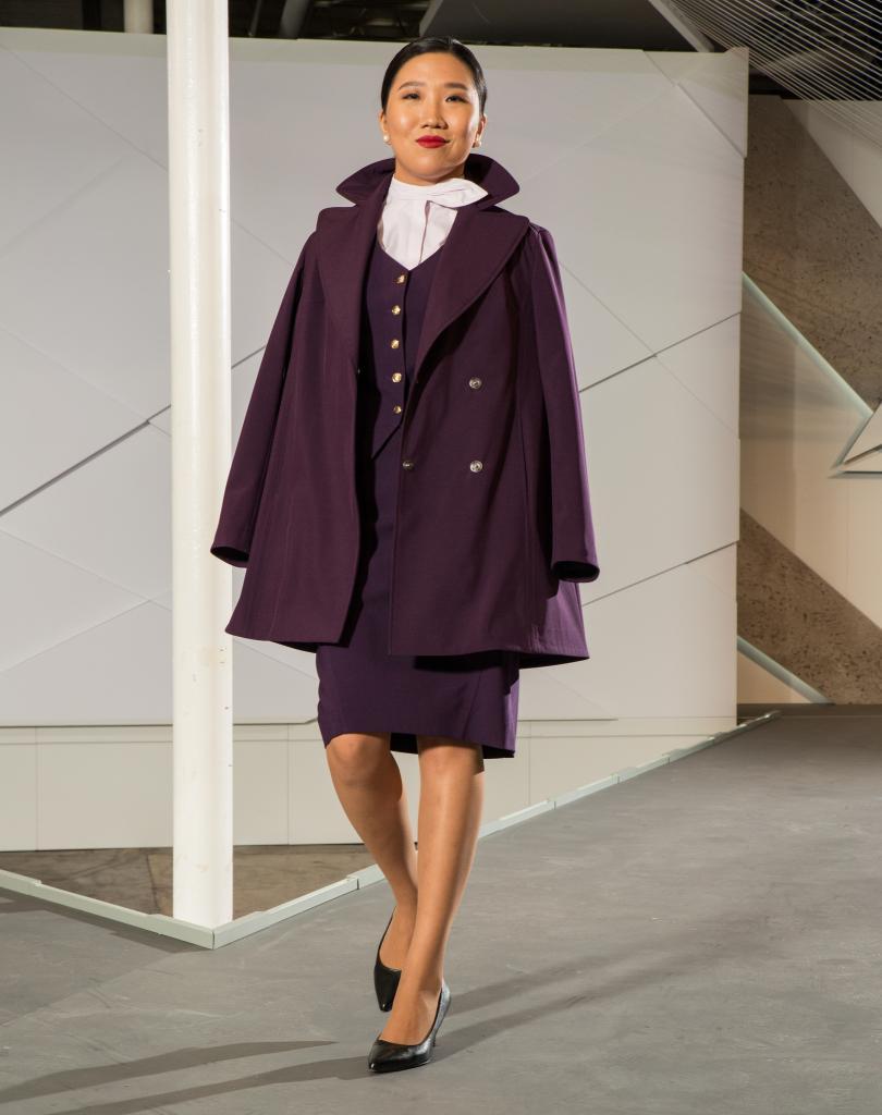 The swing coat for flight attendants
