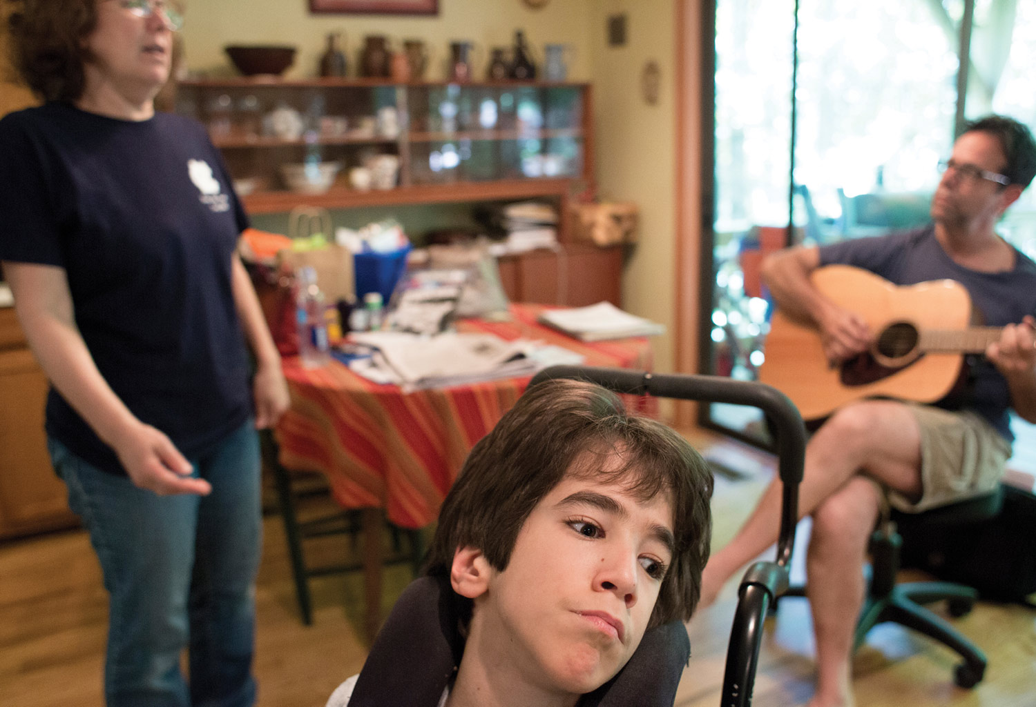 Joe enjoys live music, especially when his father, Jerry (the story's author) plays guitar.