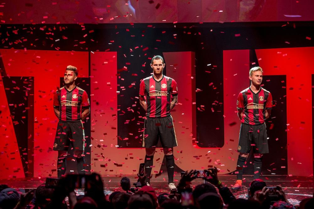 "Hector ""Tito"" Villalba, Chris McCann, and Andrew Carleton reveal Atlanta United's new kit"