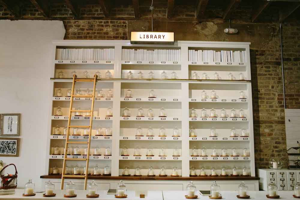 The scent library at Candlefish