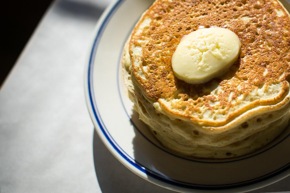 The pancakes at Buttermilk Kitchen.