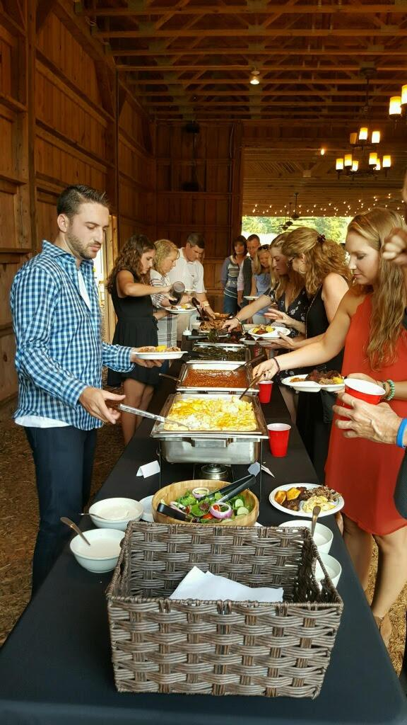 An event catered by Fox Bros. Catering.