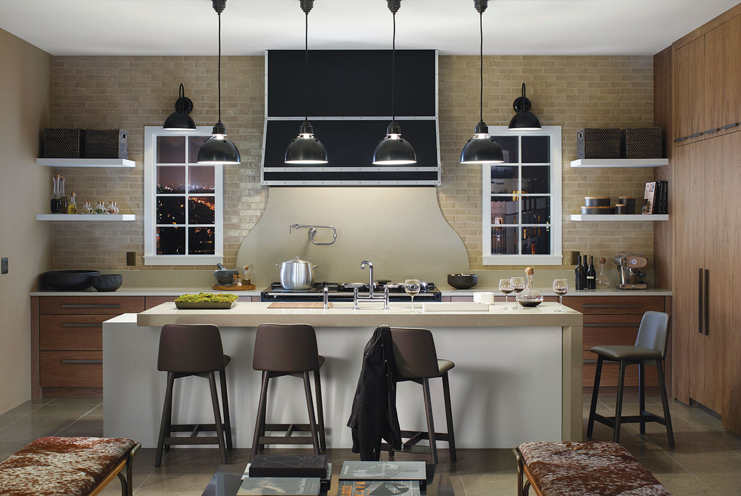 Concept kitchen by Mark Williams for Silestone, Benjamin Moore, and Kohler
