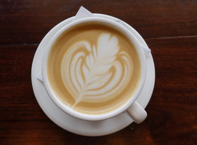 A cappuccino at Golden Drops Cafe.