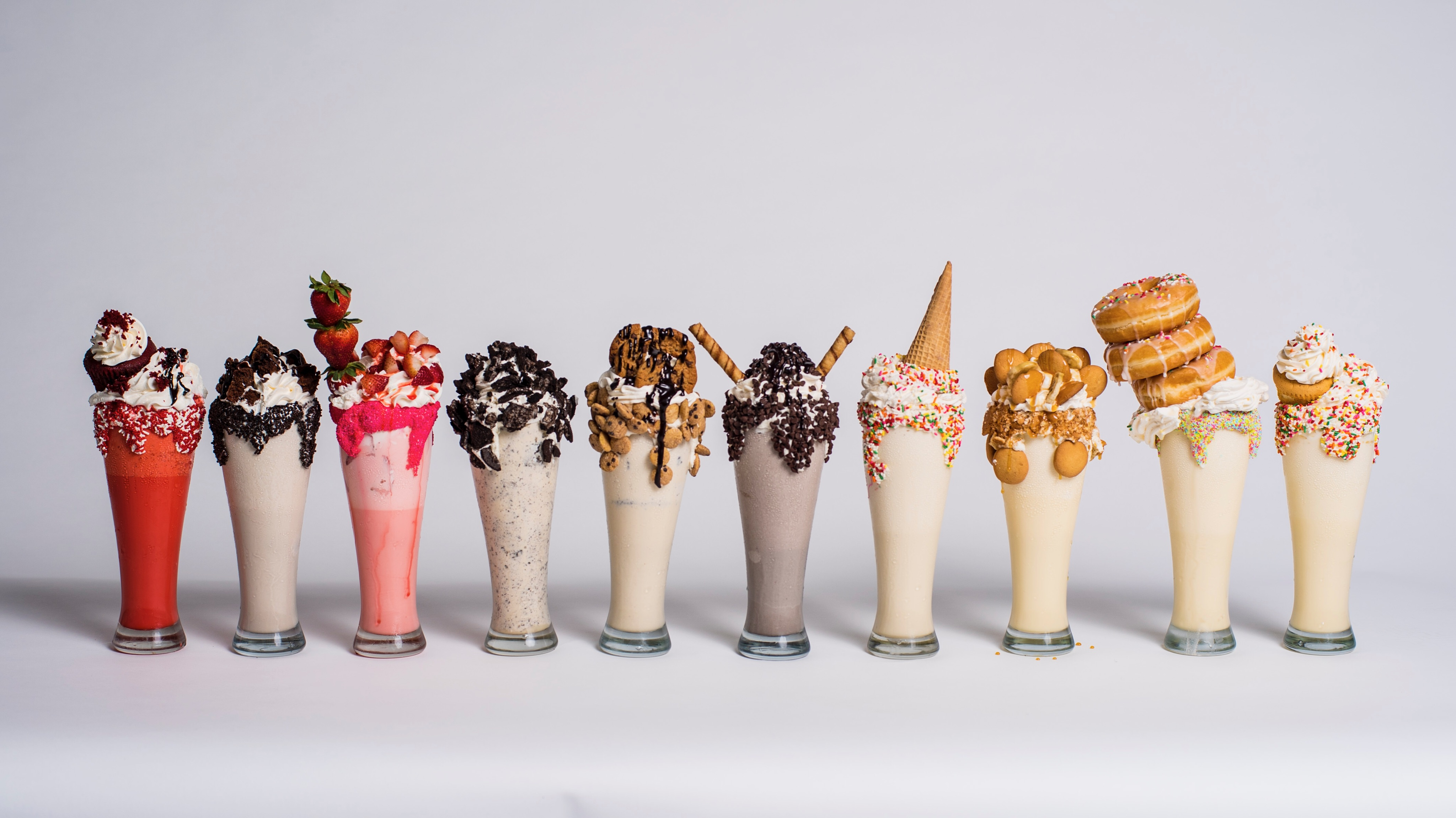 An assortment of shakes at My Fair Sweets.