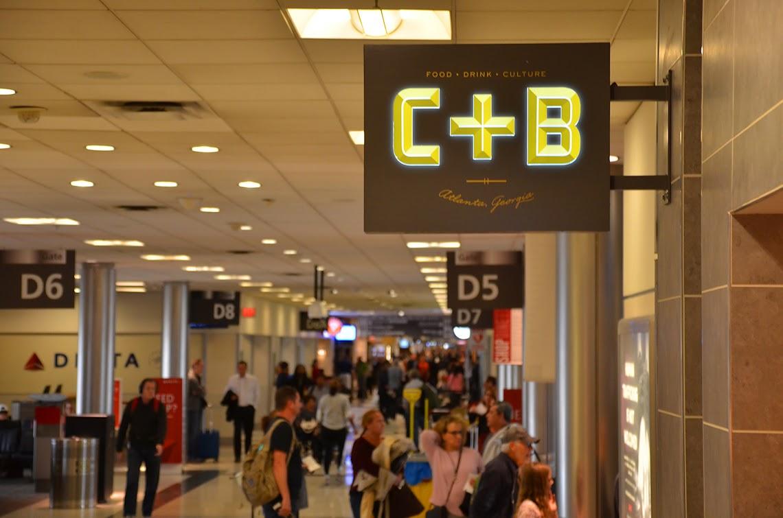 Chicken+Beer is located in Concourse D, Gate 5 of the Hartsfield-Jackson Atlanta International Airport.