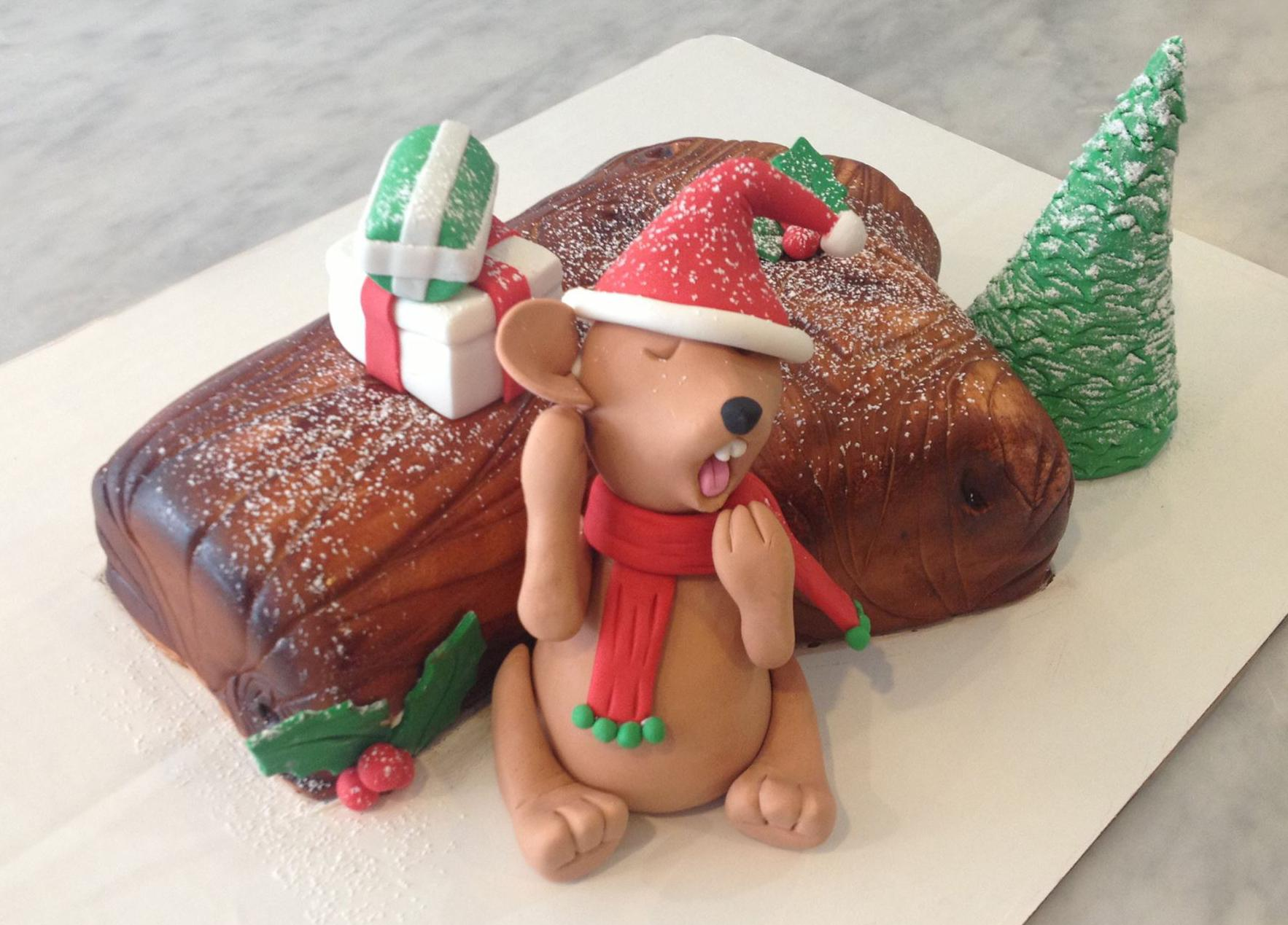 A Christmas Mouse Cake At Maes Bakery