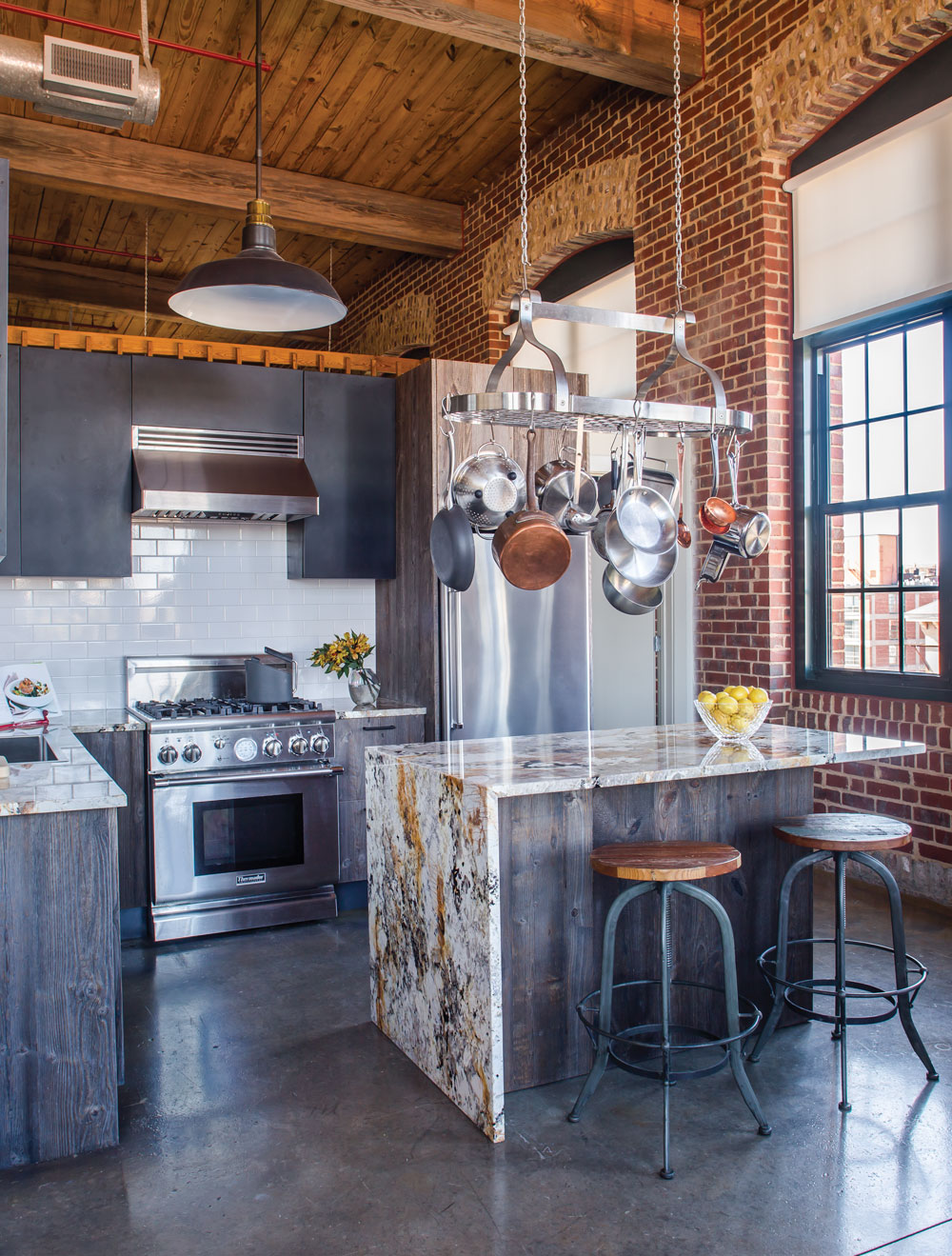Cotton Mill Lofts kitchen