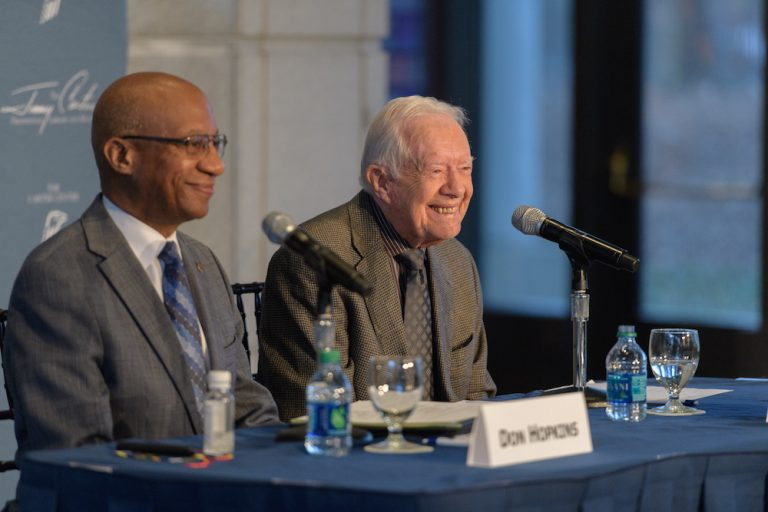 President Jimmy Carter is close to wiping Guinea worm disease from the planet